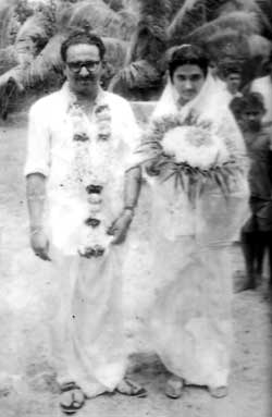 Wedding Photo: Yesudasan with wife Mercy
